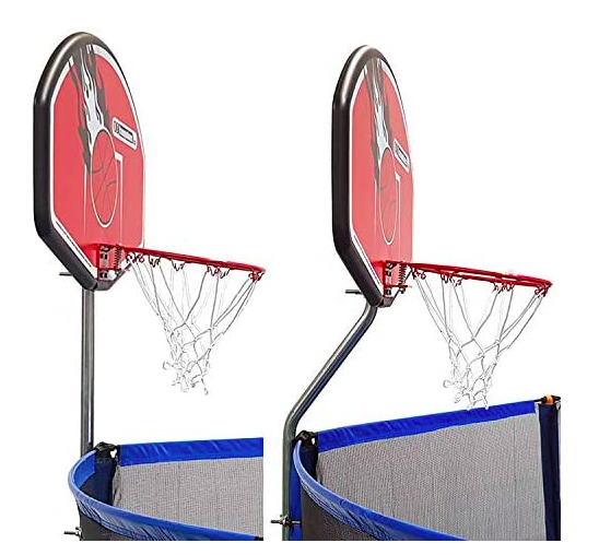 The Universal Trampoline Basketball Hoop is compatible with most trampoline brands on the market today.