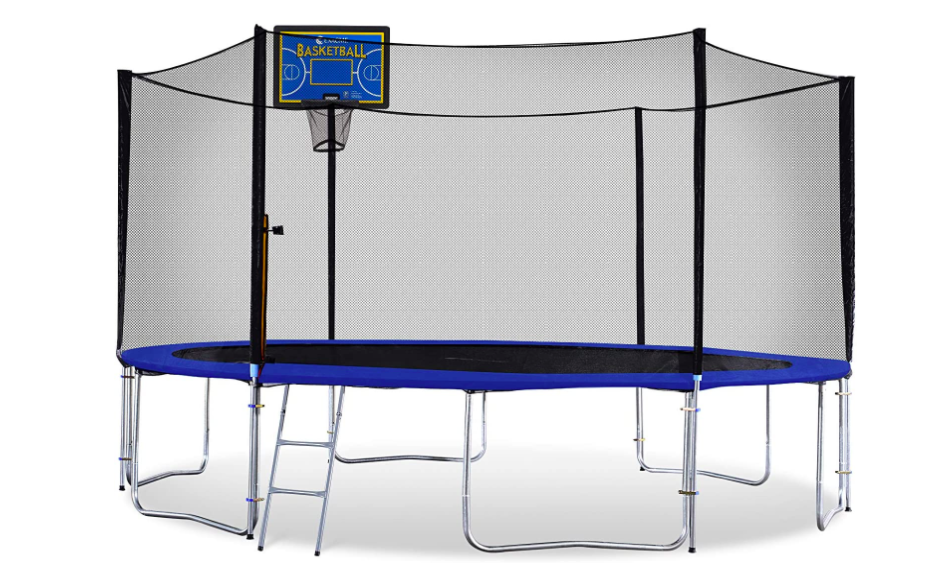 Exacme Trampoline with Basketball Hoop Attachment