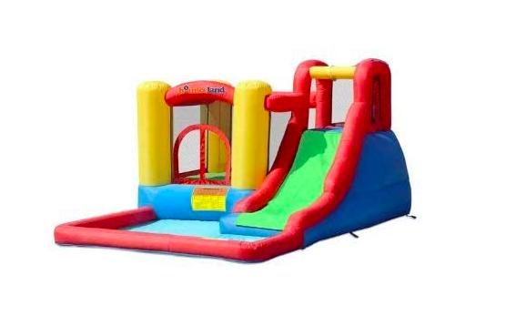 Bounceland Jump N Splash Adventure House Bouncer Inflatable Water Slides