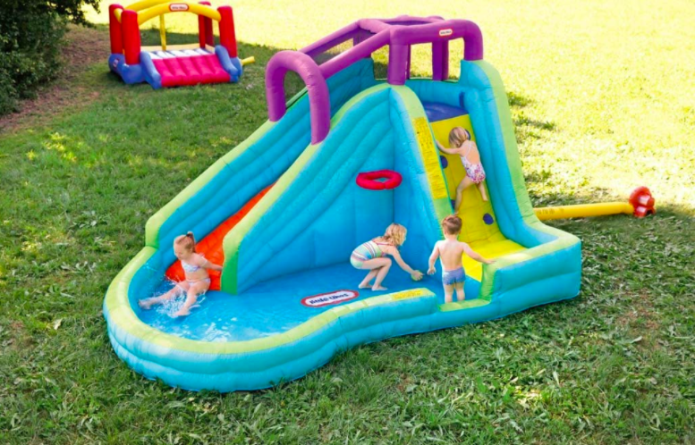 Little Tikes Slam N Curve Inflatable Water Slides