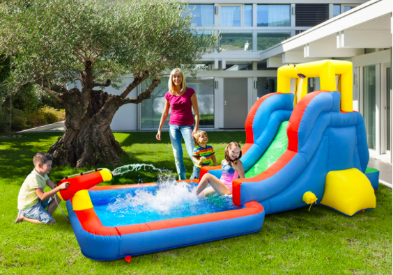 PicassoTiles Kids' Inflatable Water Slide
