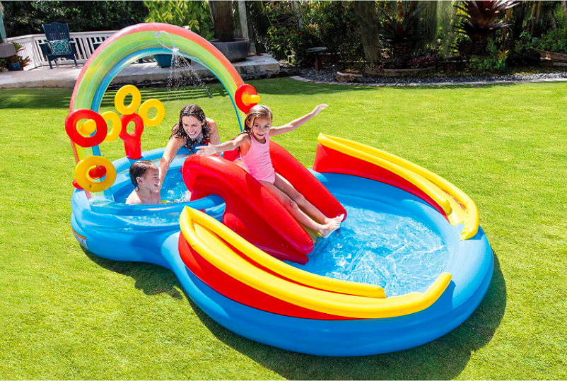 Intex Rainbow Ring Inflatable Water Slides