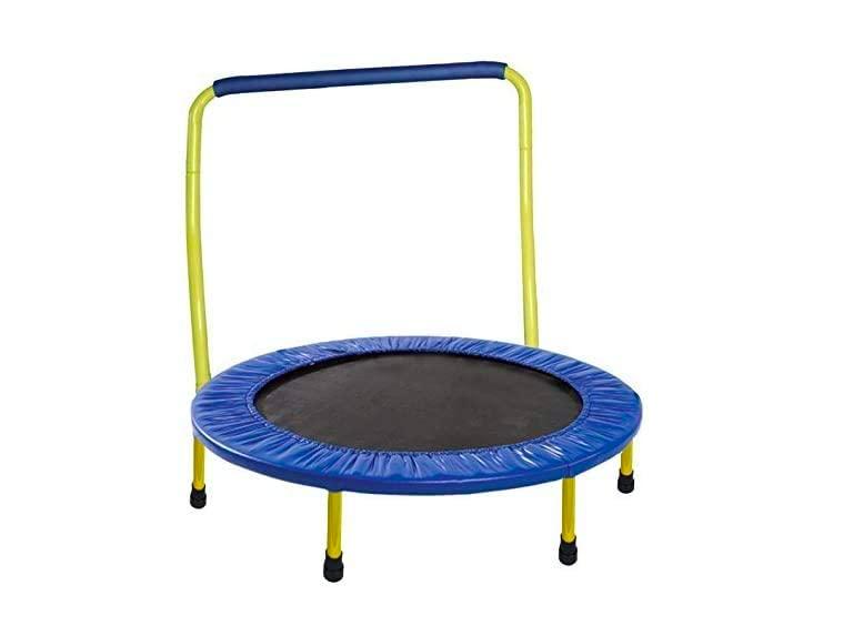 JumJoe Kids Trampoline comes in second for best toddler trampoline.