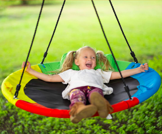 Add comfort to your tree swing with the Hazli Tree Swing with Pillow