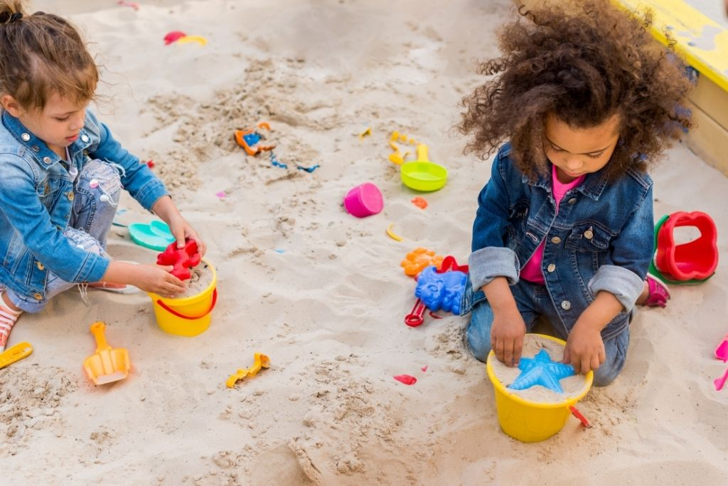 Always a classic choice, sandboxes are so much fun and one of the best backyard ideas for kids in 2021.