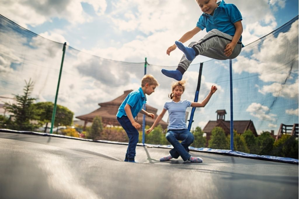 Trampolines are another excellent summer activity.