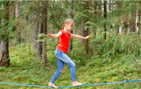 Young Girl Playing On A Hyponix Line