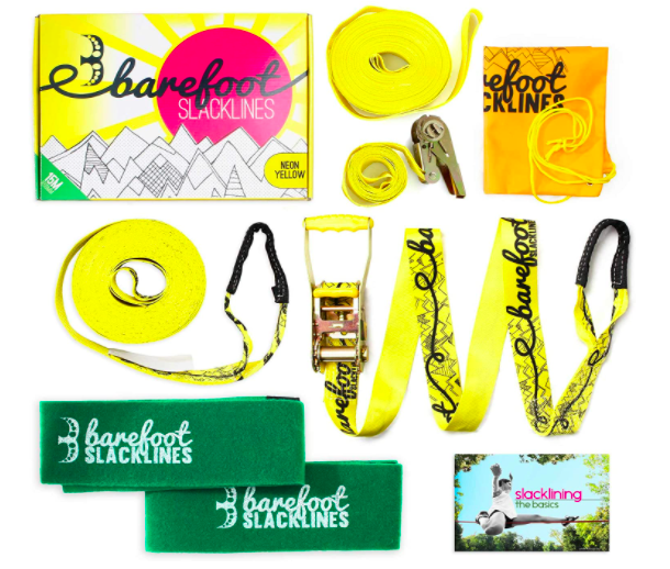 Barefoot Slacklines Comes In Several Different Fun Colors