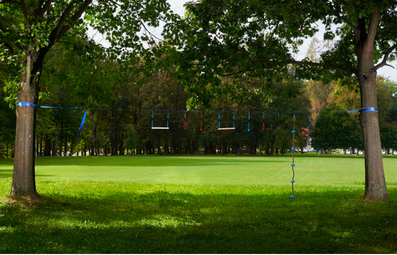 SportsTrail Store Ninja Course Set Up Between Two Trees