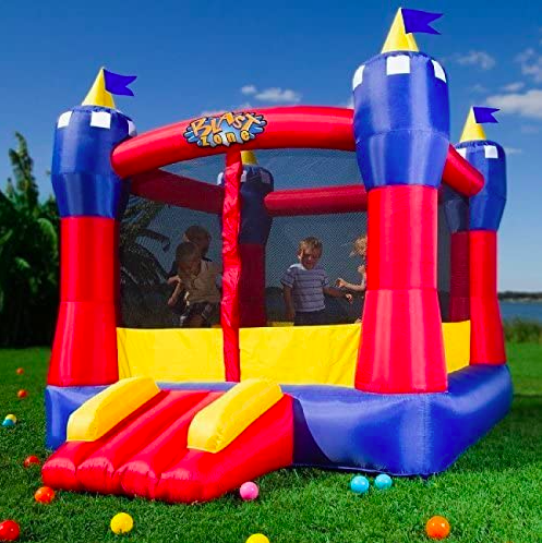 Picture of Blast Zone Magic Castle, an excellent toddler bounce house.