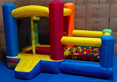 A Toddler Bounce House With Ball Pit.