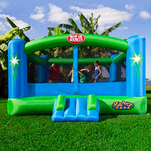 Big Blue and Green Bounce House For Toddlers By Blast Zone