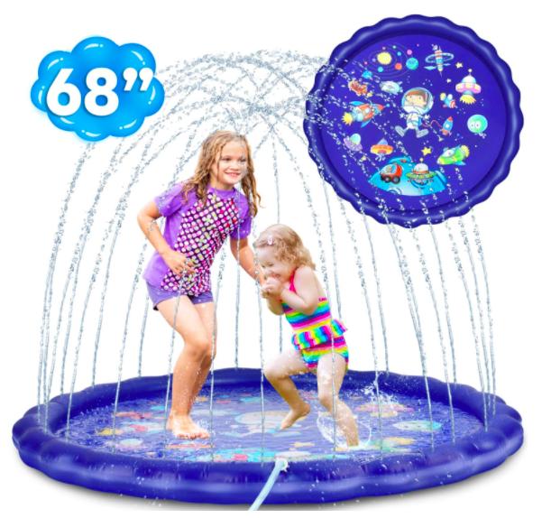 Two Girls Playing In The Desuccus Toddler Sprinkler