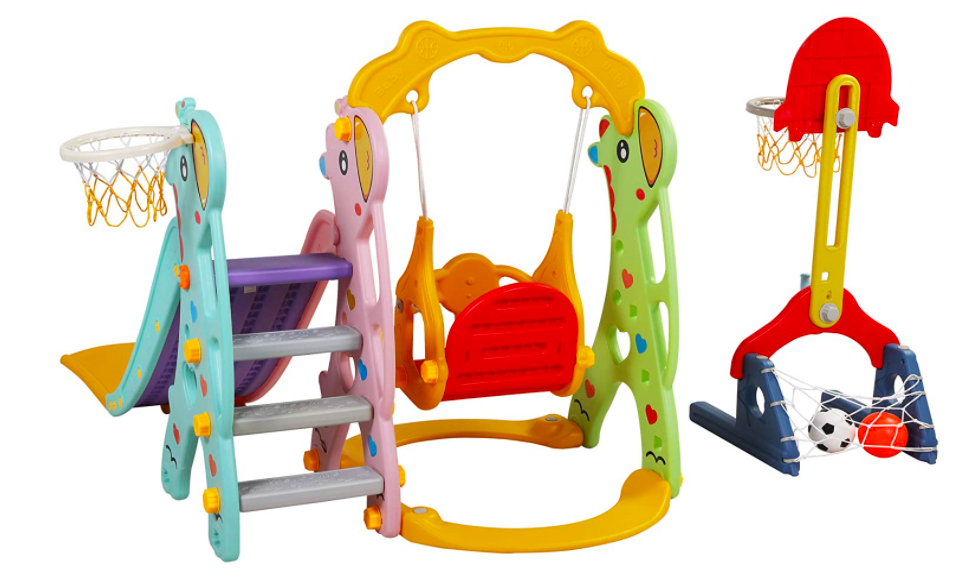 A Toddler Swing Set With 5 Different Activities