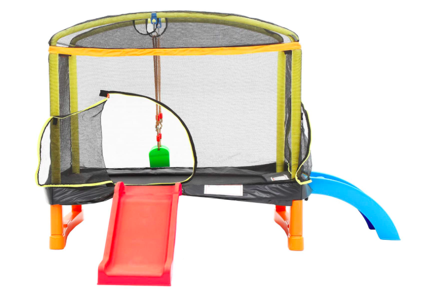 LANGXUN 4-In-1 Rectangle And Square Kids Trampolines