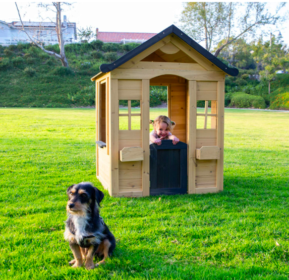 Be Mindful Solid Wood Outdoor Playhouse For Kids