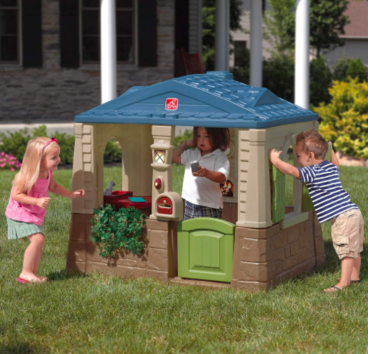 Step2 Happy Home Cottage & Grill Outdoor Playhouse For Kids
