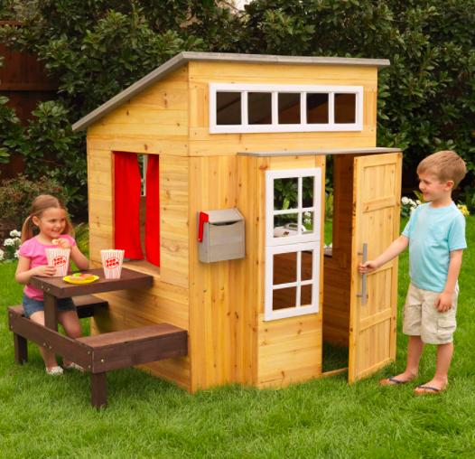 KidKraft Modern Outdoor Wooden Playhouse For Kids