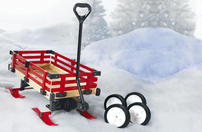 A Convertible Wagon/Snow Sleigh.