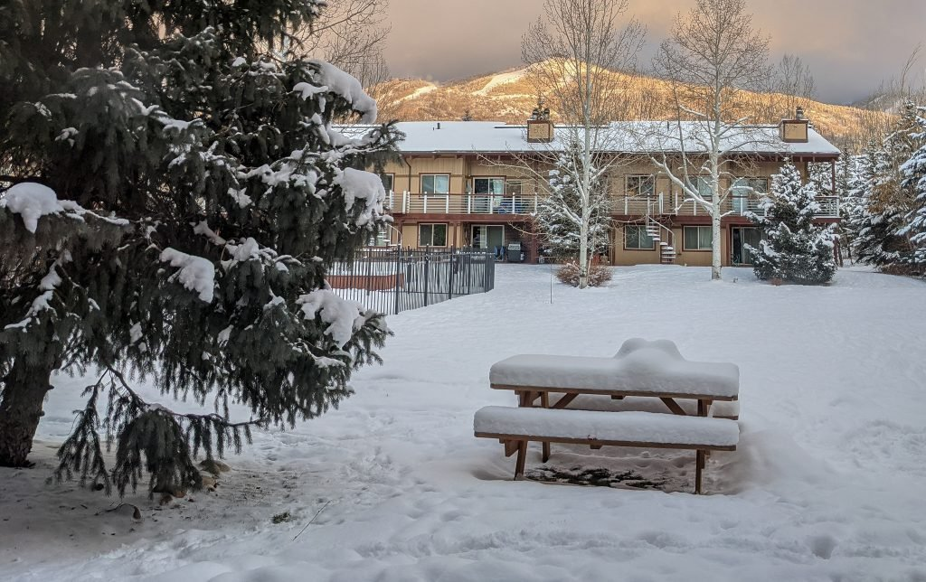 A View of Steamboat Springs, Colorado In The Winter.