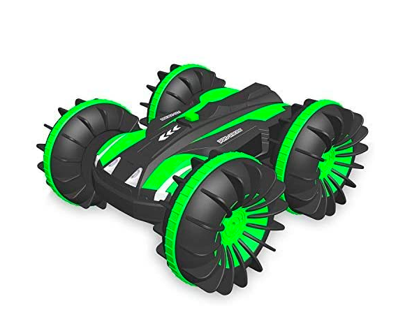 A Green RC Car; A Great Toy To Use Even Outdoors During Winter.