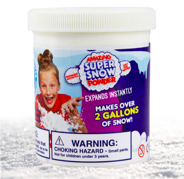 Faux Snow In A Bucket - One of the Best Outdoor Winter Toys For Kids.
