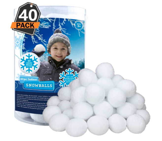 40 Faux Snowballs That Are Perfect For Playing Outdoors In The Winter Time.