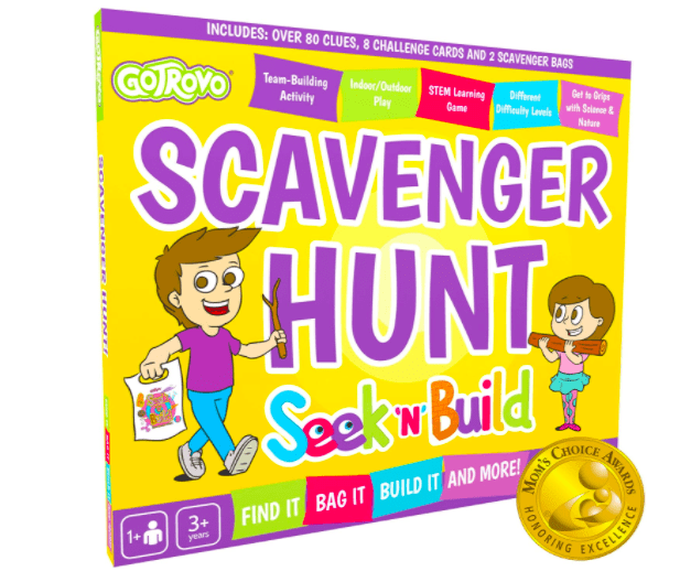 A Scavenger Hunt Box That is One of The Best Outdoor Winter Toys For Kids.