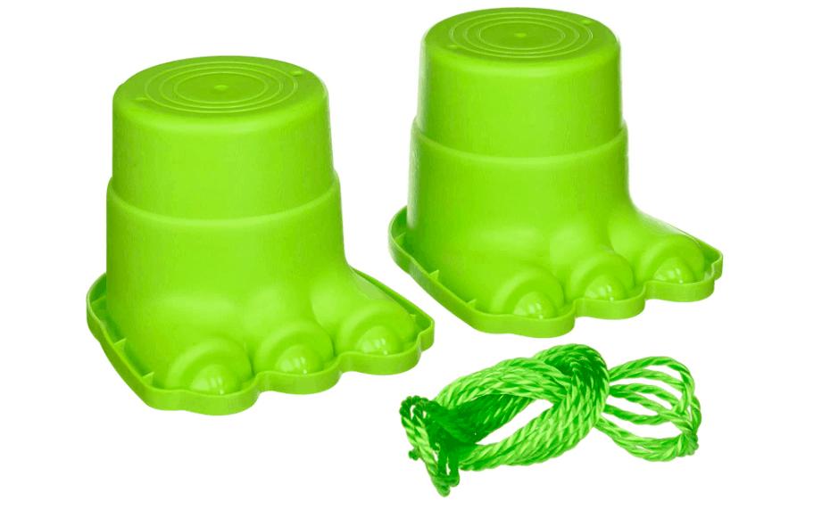 Two Green Monster Feet.