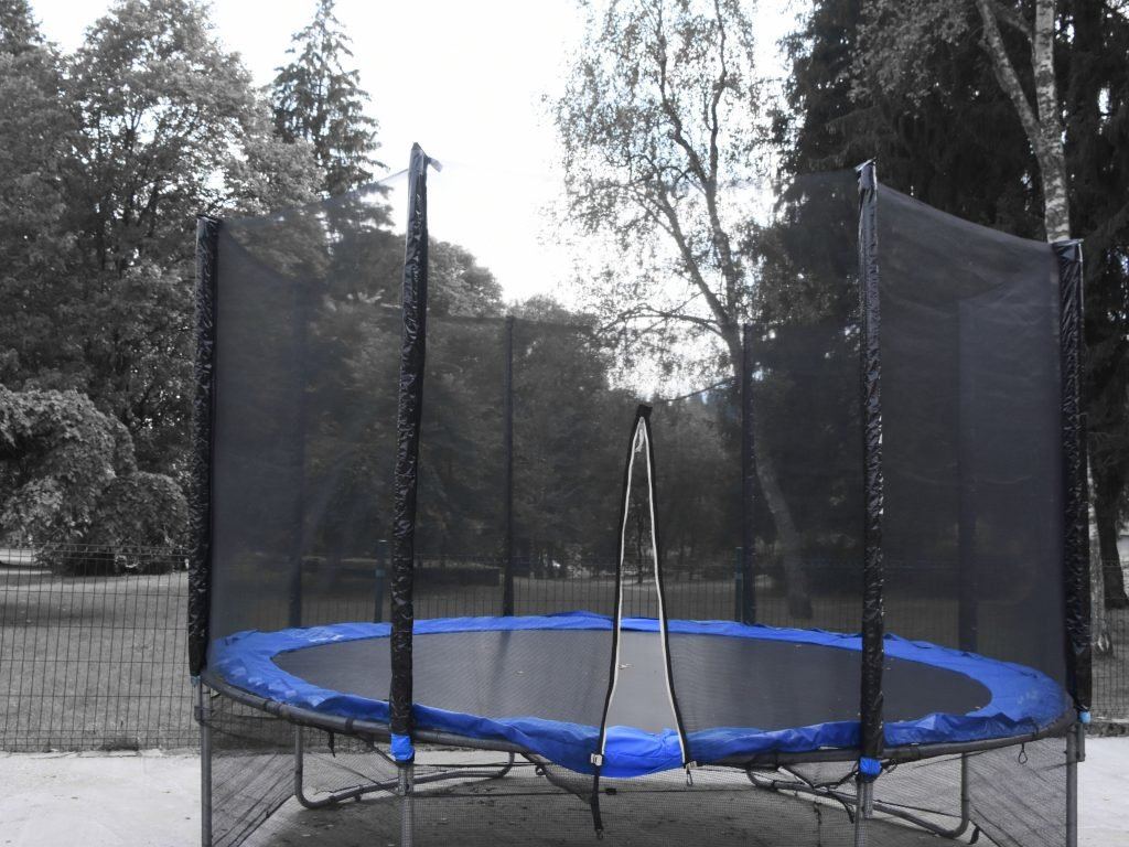 A Trampoline Ready For A Trampoline Tent.