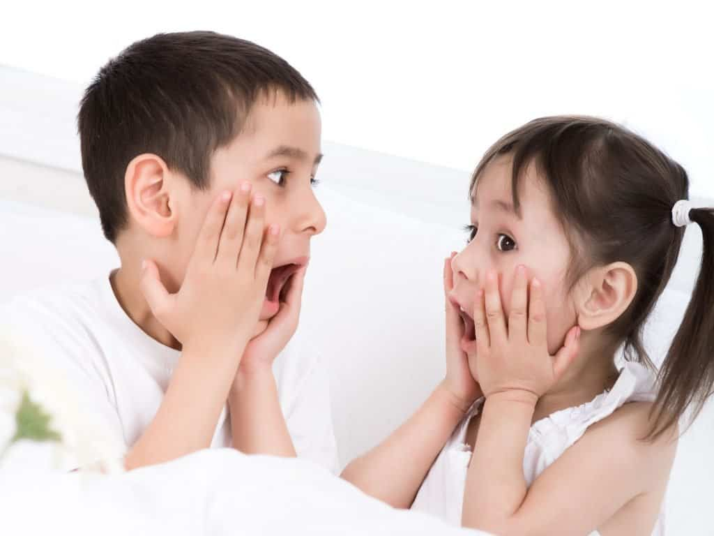 Kids With Surprised Faces As A Simon Says Idea.