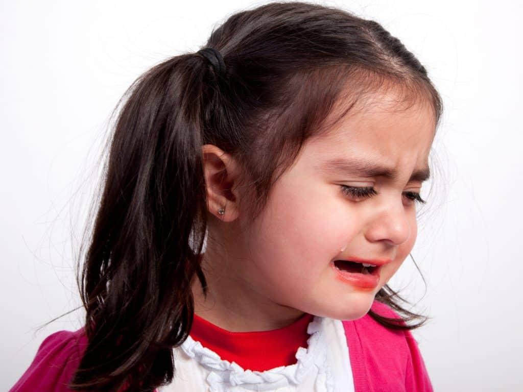 Little Girl Fake Crying During Simon Says Game.