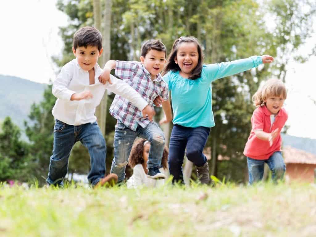 Little Kids Running.