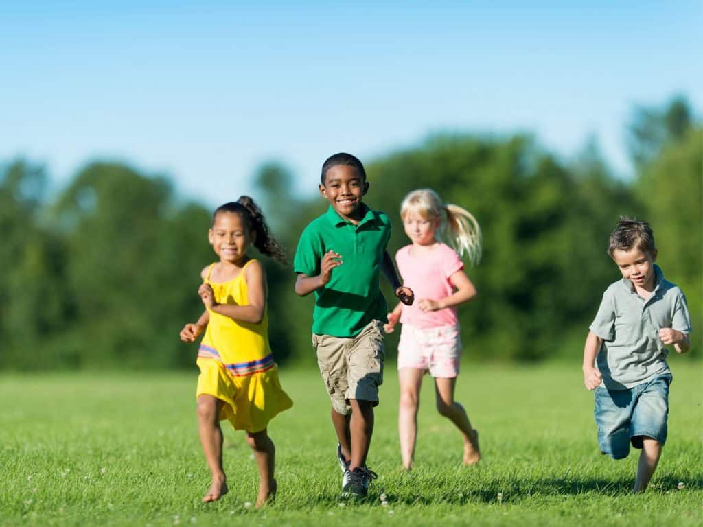 Kids Running - One of the Best Simon Says Ideas.